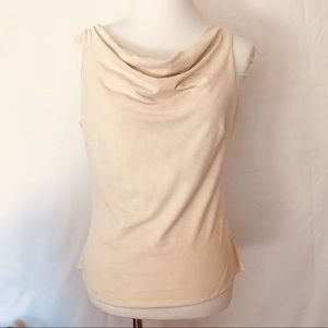 WHBM Faux suede sleeveless top